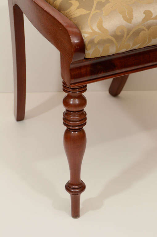 Swedish Set of Six Mahogany Dining Chairs For Sale