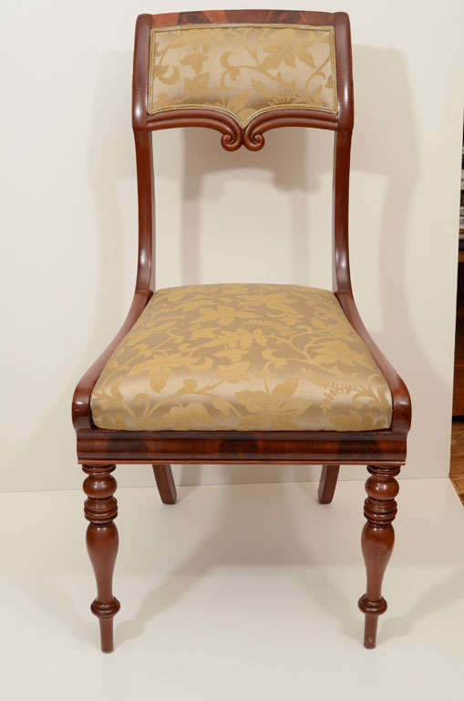 Set of Six Mahogany Dining Chairs In Excellent Condition For Sale In New York, NY