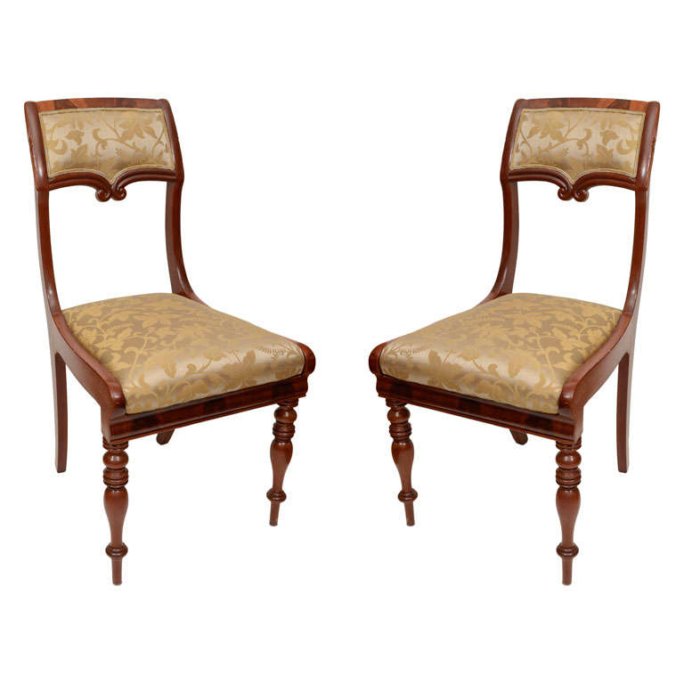 Set of Six Mahogany Dining Chairs For Sale