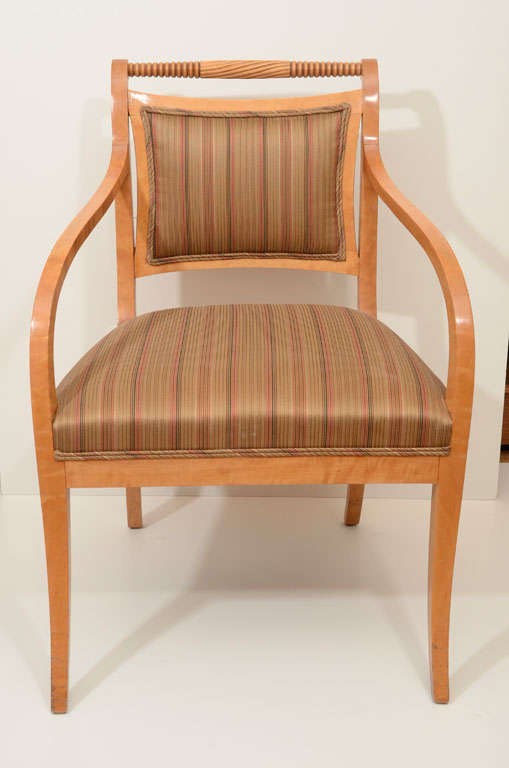 Pair of empire salon chairs for sale at 1stdibs for Salon sofa for sale