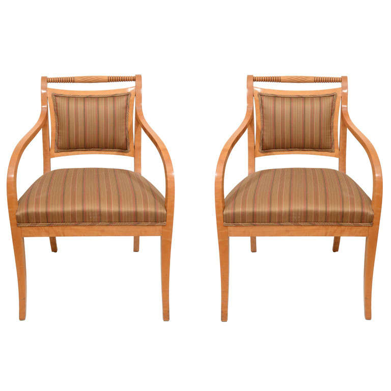 Pair of Empire Salon Chairs