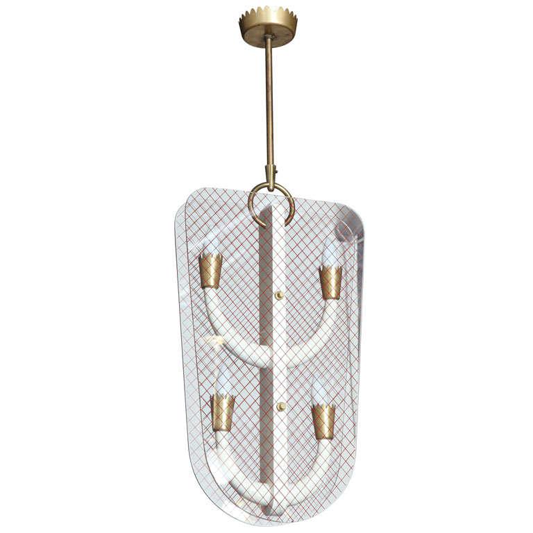 chandelier by fontana arte at 1stdibs. Black Bedroom Furniture Sets. Home Design Ideas
