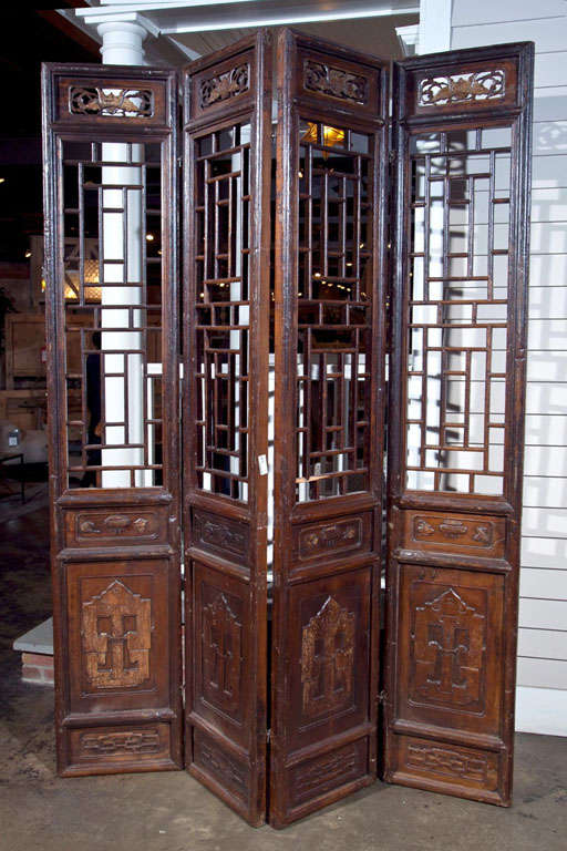 Chinese Carved Screen, 19th Century 2