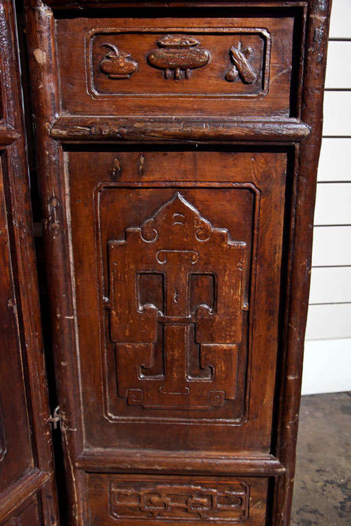 Chinese Carved Screen, 19th Century For Sale 1