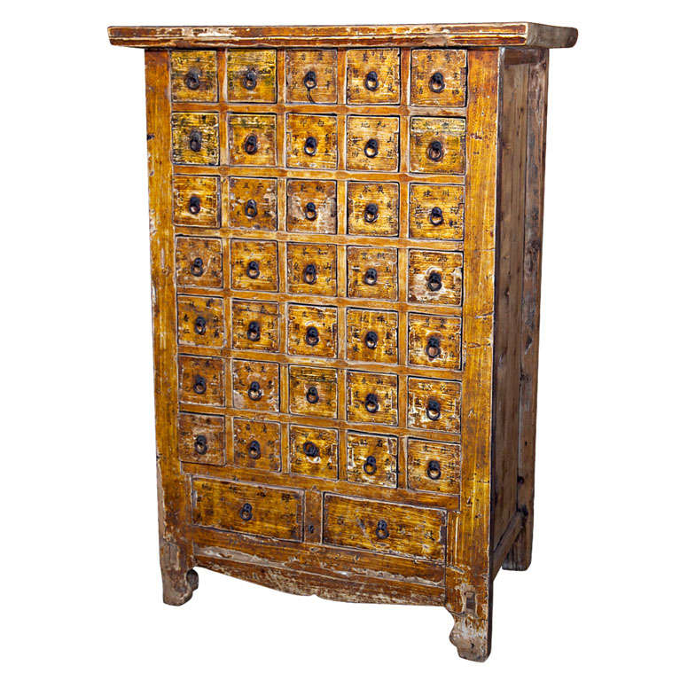 Chinese apothecary cabinet, late 19th century 1