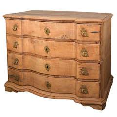 Danish 18th c. chest in raw oak