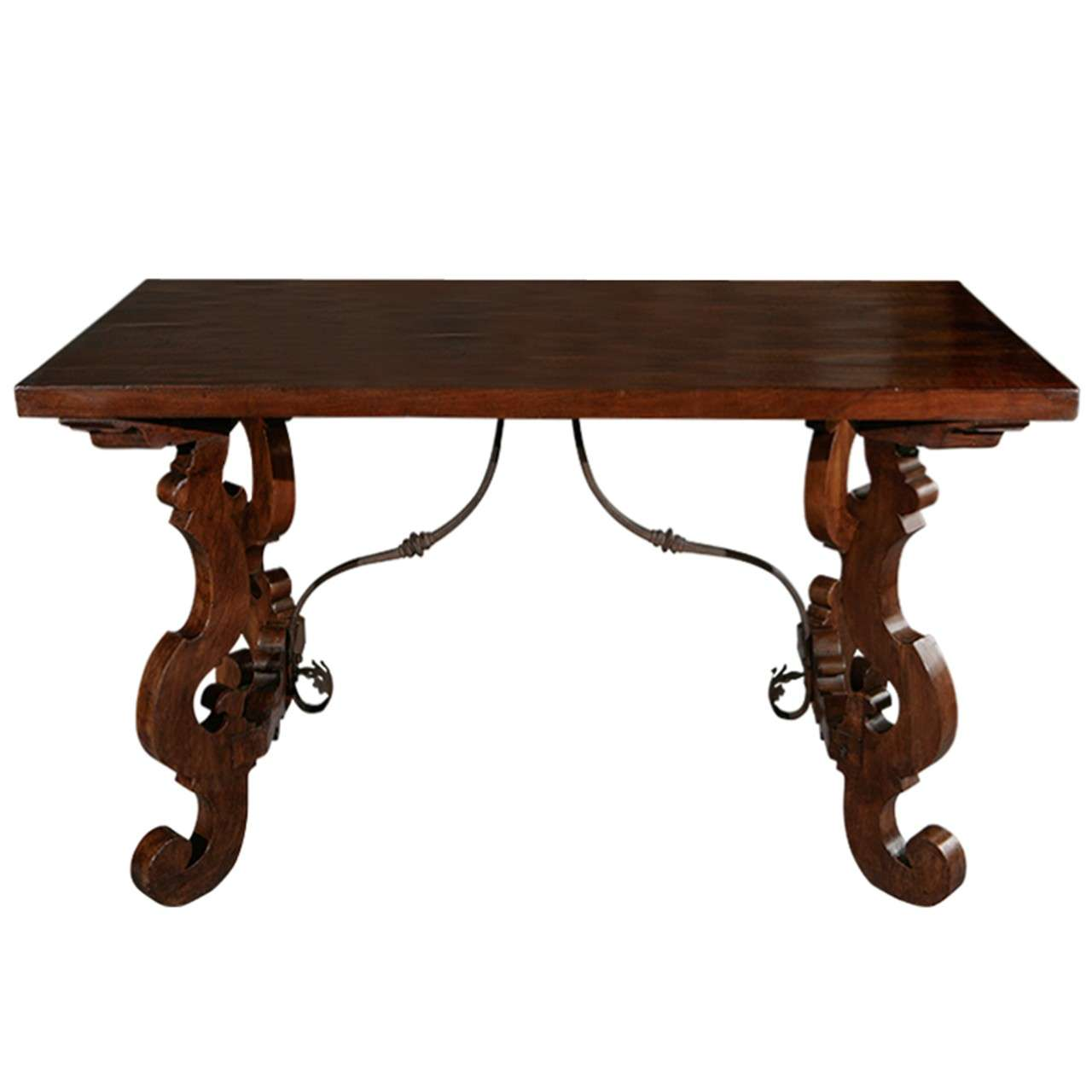 Tuscan Table with Iron Trestle