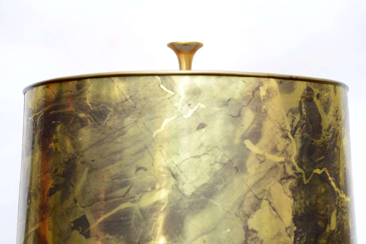 Tall Monumental Rembrandt Brass Table Lamp For Sale 4