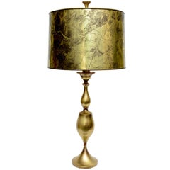 Tall Monumental Rembrandt Brass Table Lamp