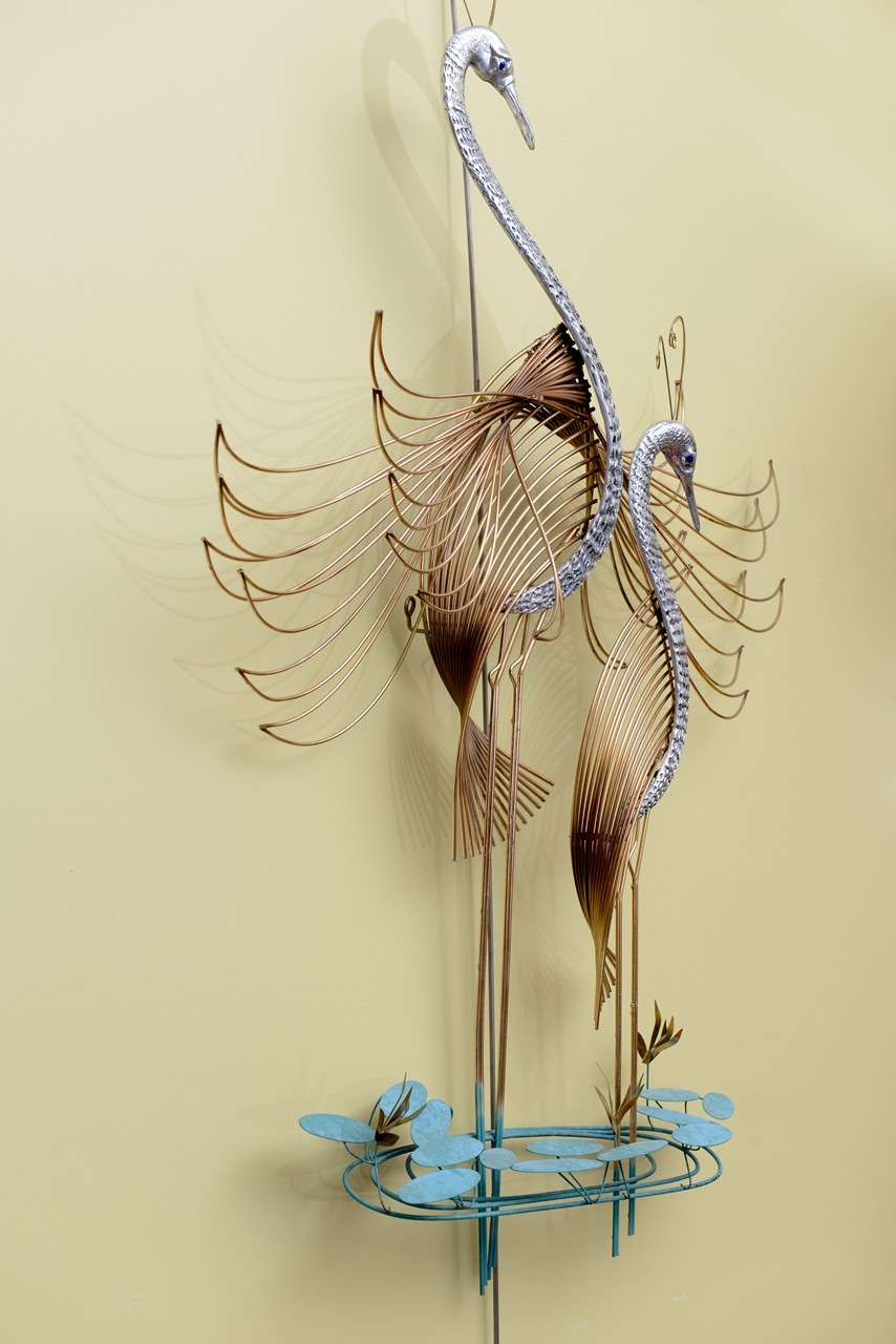 C. Jeré Birds of Paradise Wall Sculpture For Sale at 1stdibs