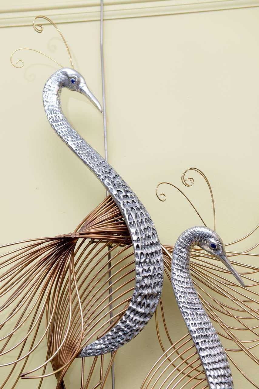 C. Jeré Birds of Paradise Wall Sculpture In Excellent Condition For Sale In Miami, FL