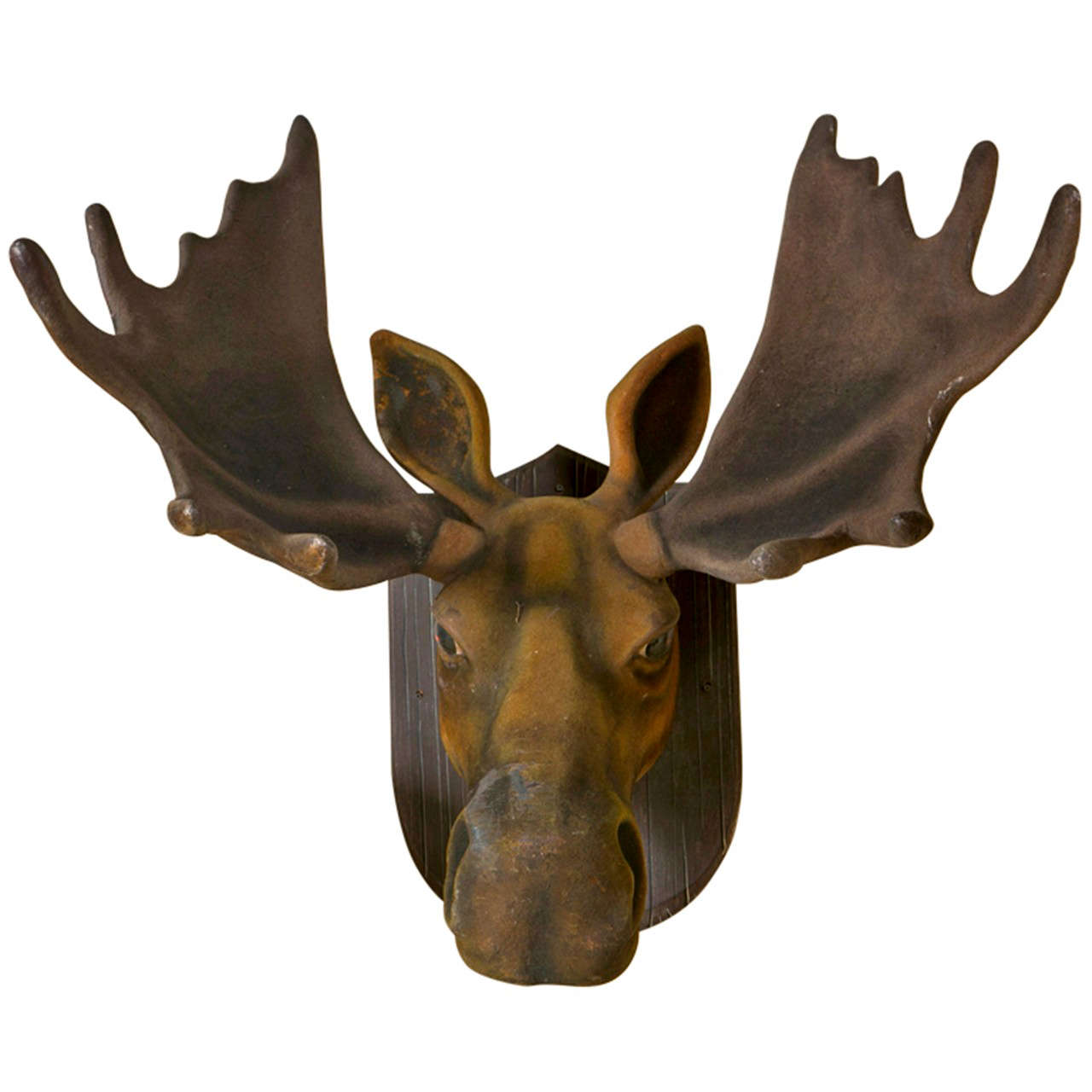 Large faux moose head at 1stdibs - Fake moose head ...