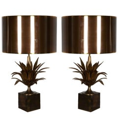 Great Pair of 1970s Lamps by Maison Charles