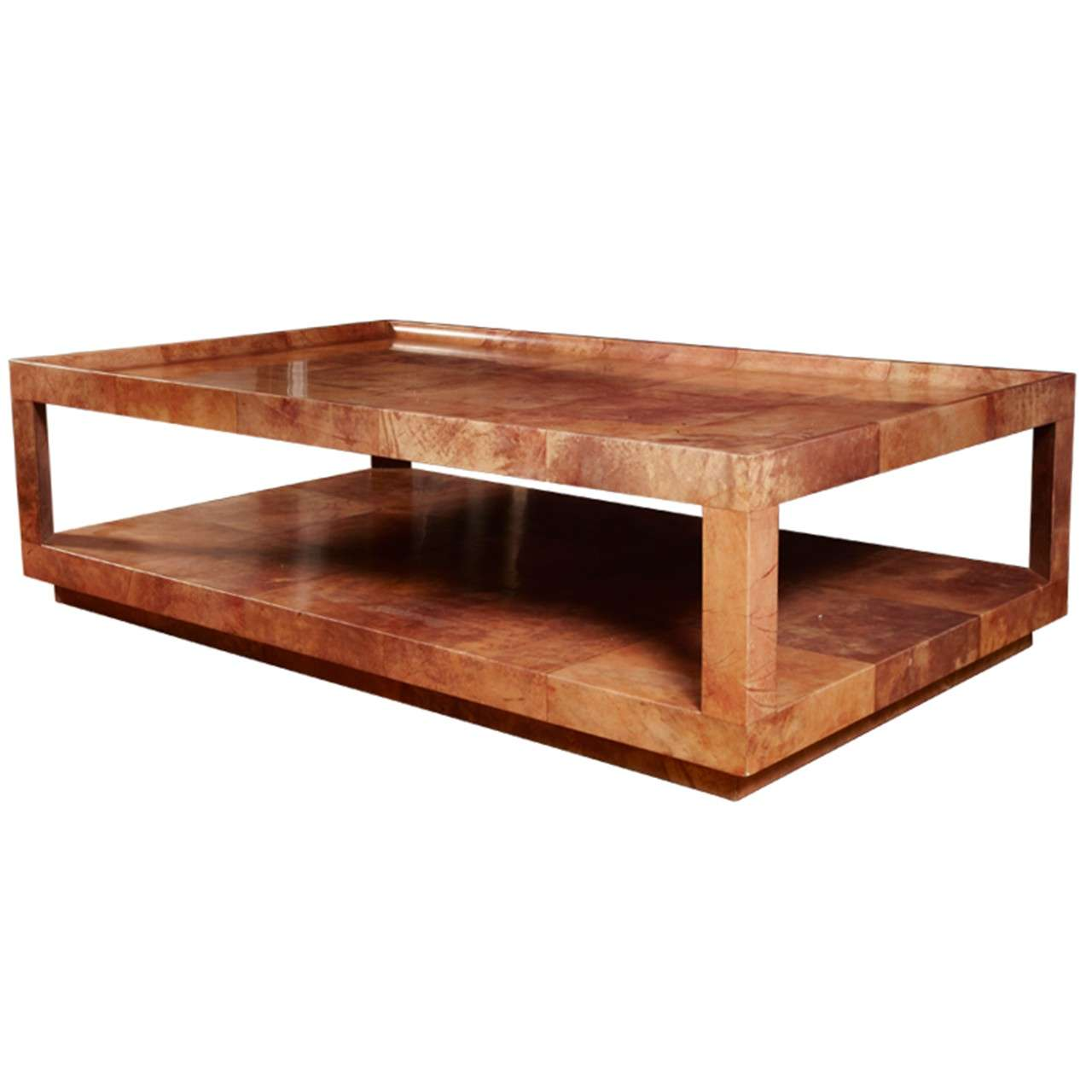 1970 39 s huge cocktail table by aldo tura at 1stdibs for K furniture coffee table