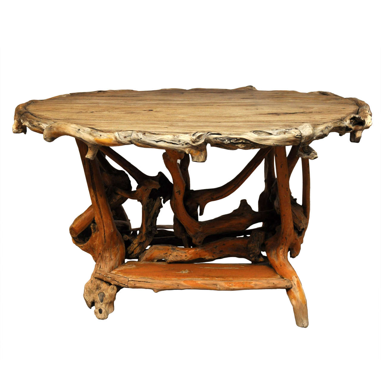 Rustic Twig Center Table At 1stdibs