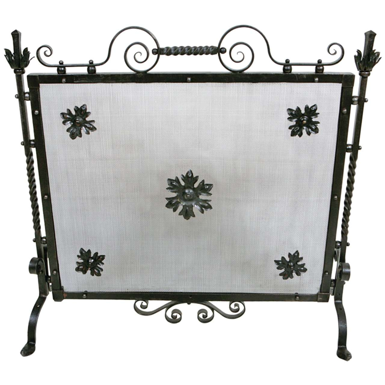 Antique Wrought Iron Fire Screen At 1stdibs
