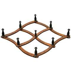 Antique American Folding Hat Rack