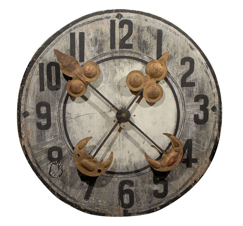 Large French Wooden Clock Face At 1stdibs