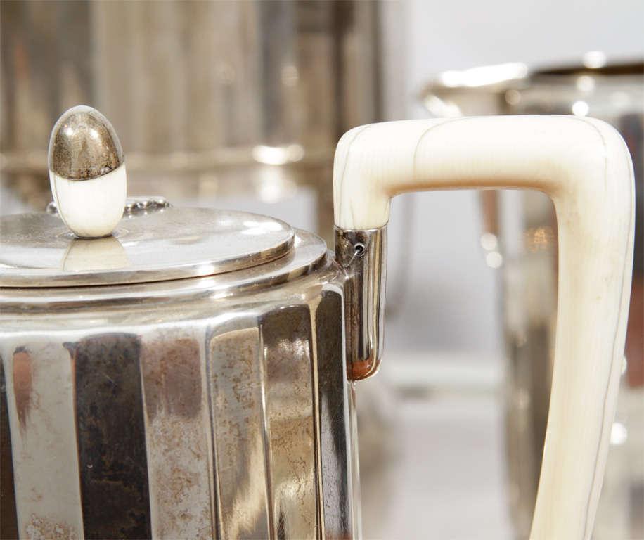 Fine & Rare Art Deco Silver Tea Service 1