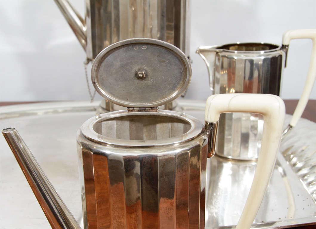 Fine & Rare Art Deco Silver Tea Service 2