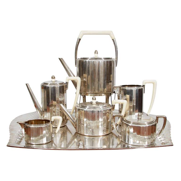 Fine & Rare Art Deco Silver Tea Service