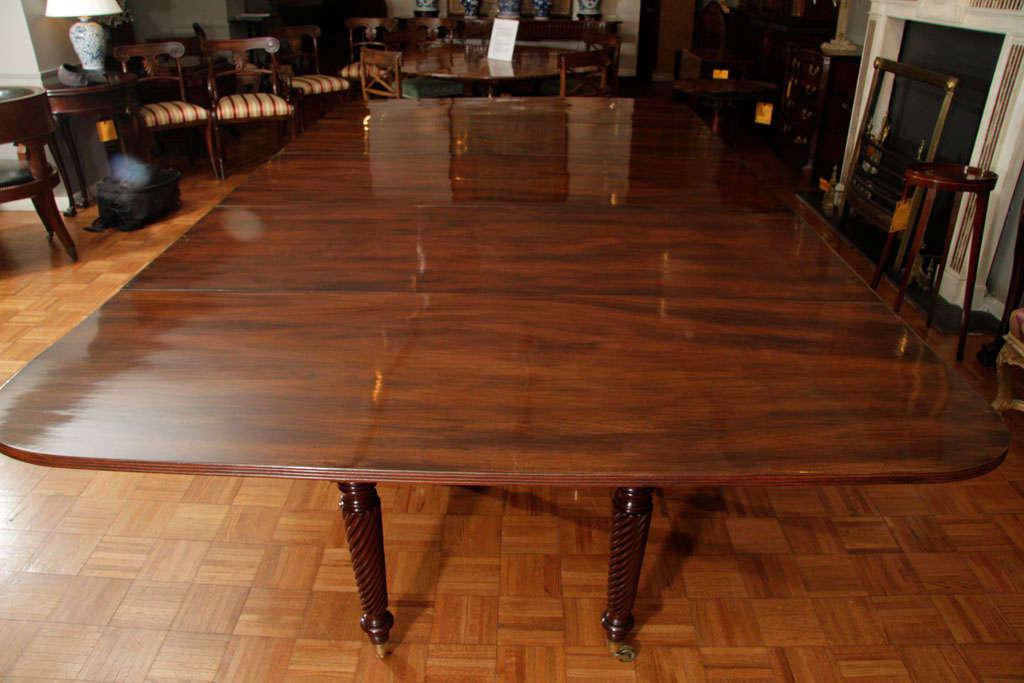 Irish Regency Mahogany Extending Dining Table For Sale At 1stdibs