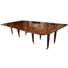 Irish Regency Mahogany Extending Dining Table