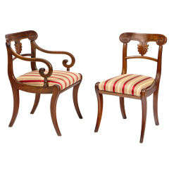 Set of 20 Early 19th Century Regency Mahogany Dining Chairs
