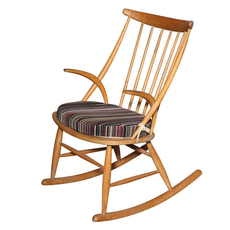 This Danish Vintage Rocking Chair by Illum Wikkelso is no longer ...