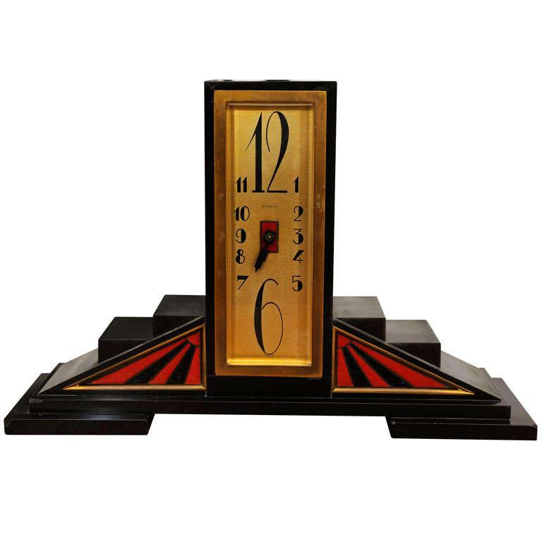 Art deco table clock at 1stdibs - Deco table retro ...