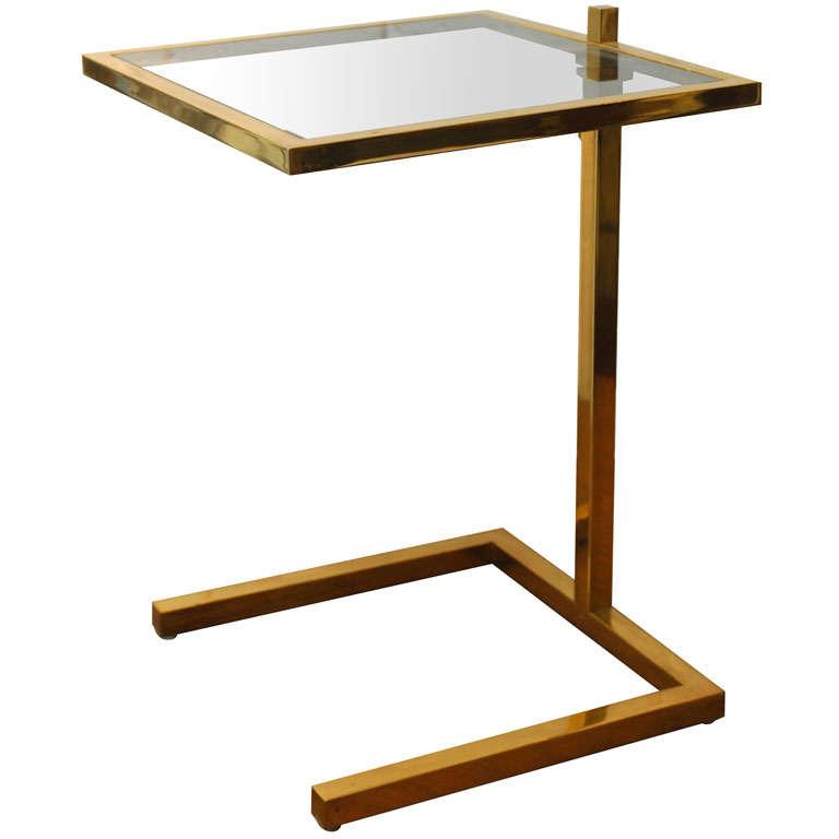 Adjustable Side Table For Recliner: Adjustable Brass Side Table