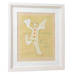 """Signed and Numbered Color Lithograph """"Carnaval de Nice"""" Jean Cocteau, 1950s"""