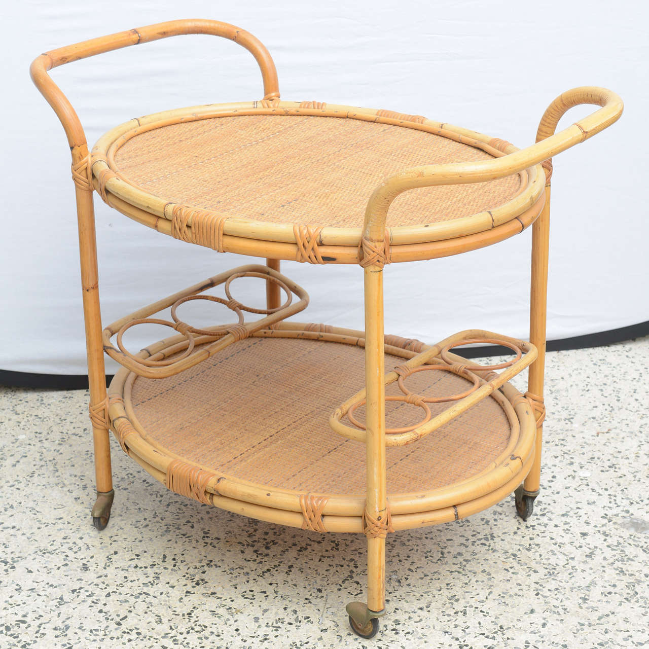 Bamboo Bar Cart, USA 1965 10