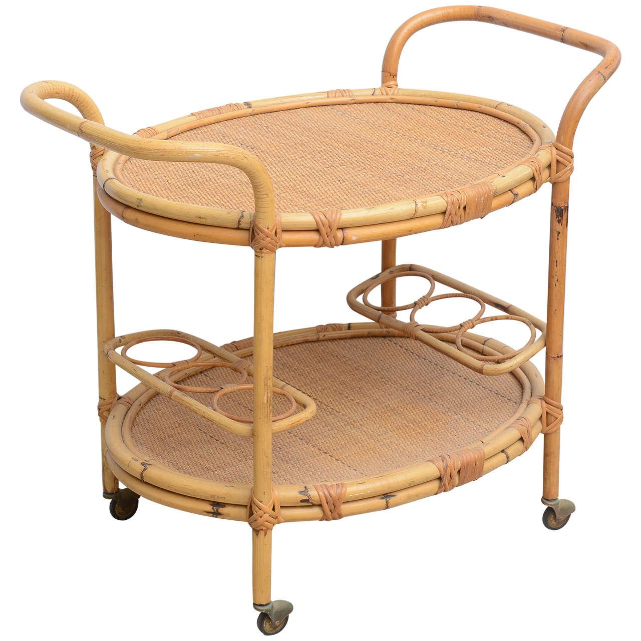Bamboo Bar Cart, USA 1965 1