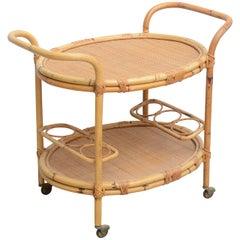 Bamboo Bar Cart, USA 1965