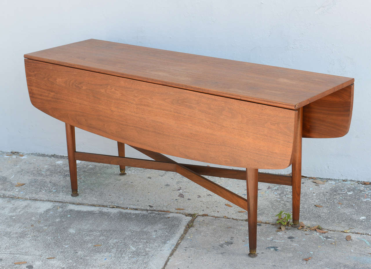 Teak Drop Leaf Dining or Console Table Danish 1960s at  : DSC6289 from www.1stdibs.com size 1280 x 929 jpeg 121kB