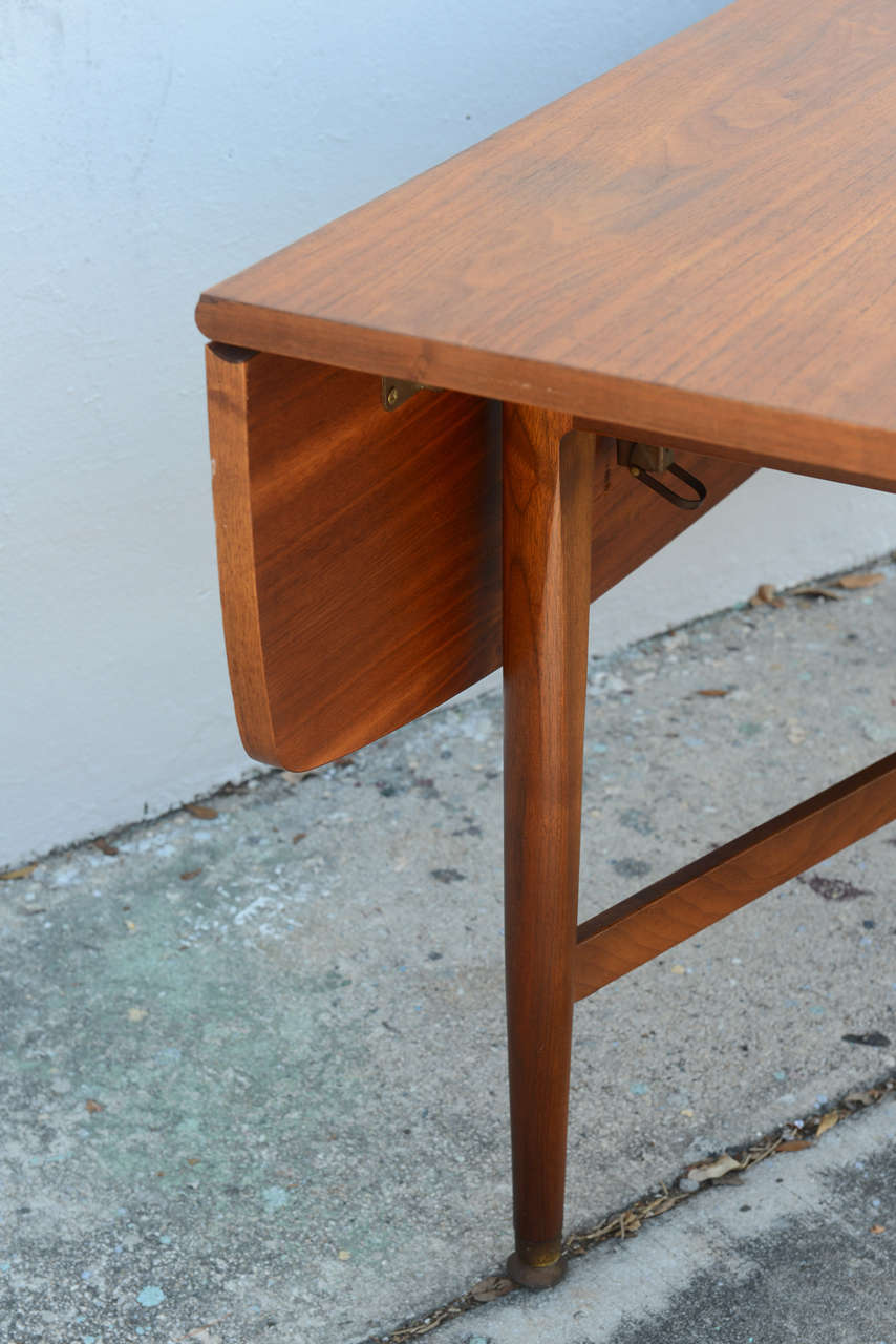 Teak Drop Leaf Dining Or Console Table Danish 1960s At