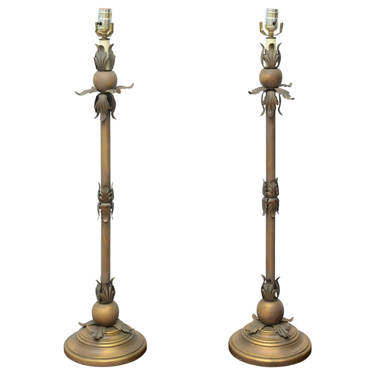 tall gold table lamps 1970s usa for sale at 1stdibs