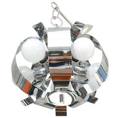 Small Chrome Chandelier, 1960s, USA