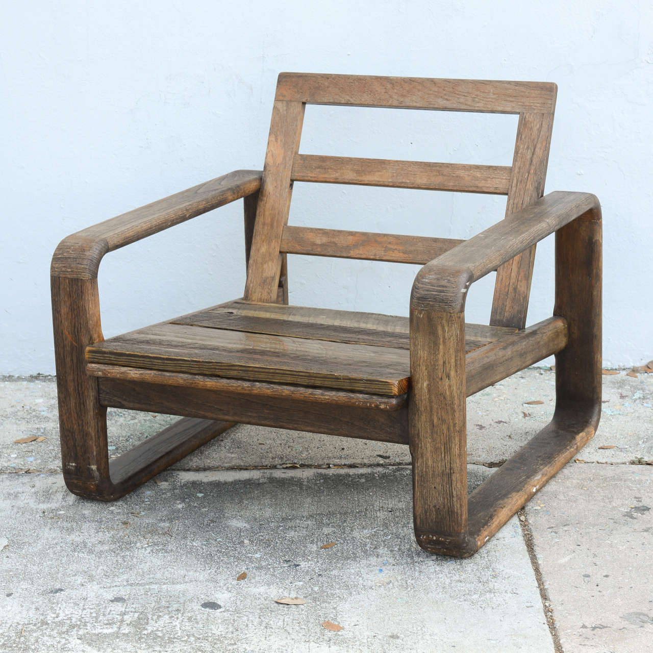 Beautiful Vintage Teak And Reclaimed Wood Chairs, 1950s, USA 3