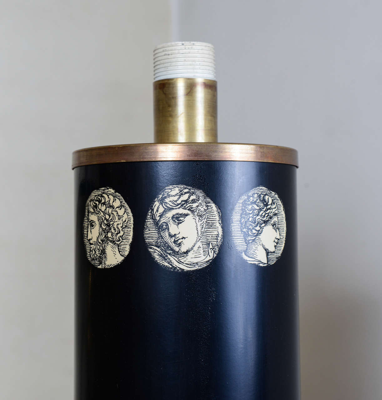 Italian Tall Lamp by Piero Fornasetti For Sale