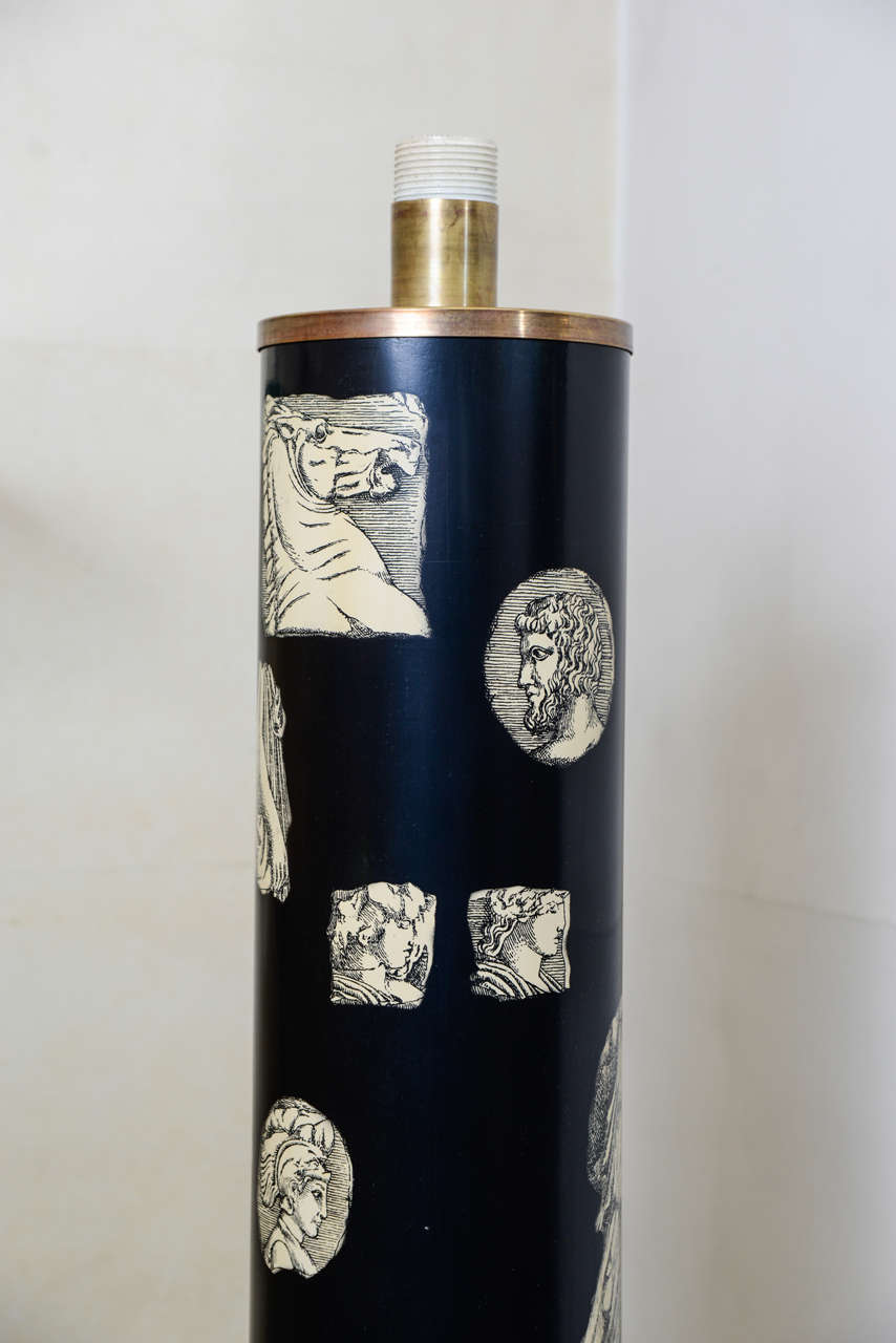Late 20th Century Tall Lamp by Piero Fornasetti For Sale