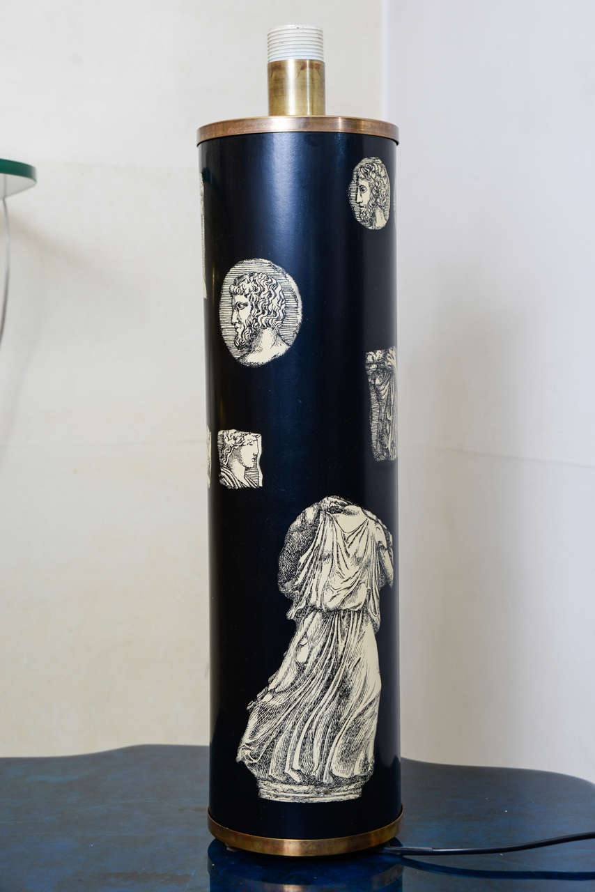 Lacquer Tall Lamp by Piero Fornasetti For Sale