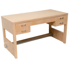 Rare American Modern Cerused Oak Desk by Jay Spectre