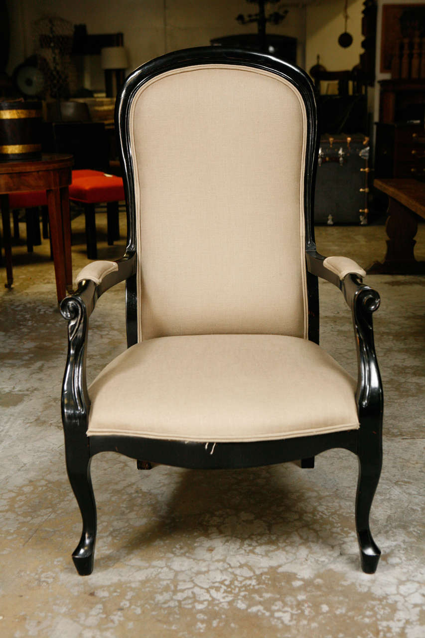 19th Century Pair of Ebonized Chairs 3