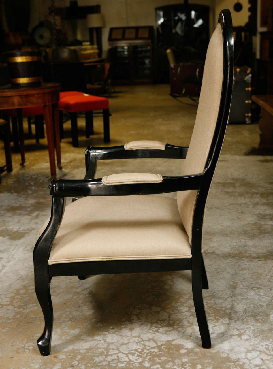 19th Century Pair of Ebonized Chairs 5