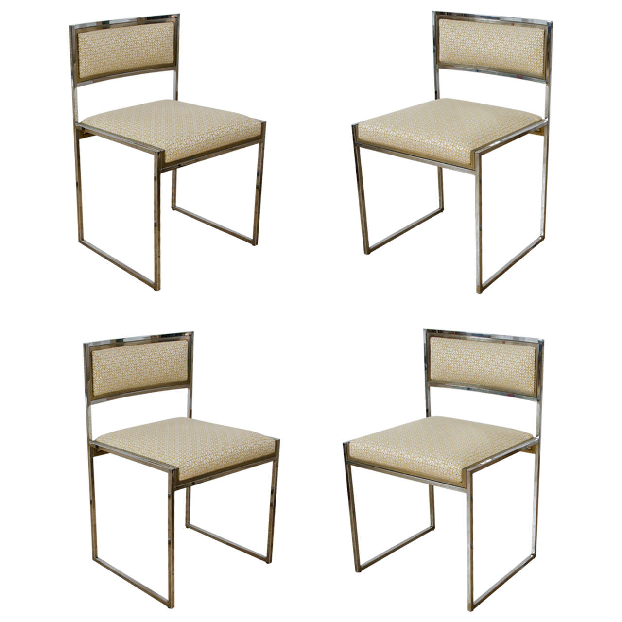 Set of six dining chairs by willy rizzo 1970s for sale at for 1970 dining room set