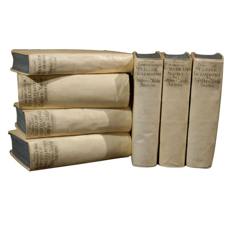 Set of  7  Vellum Books