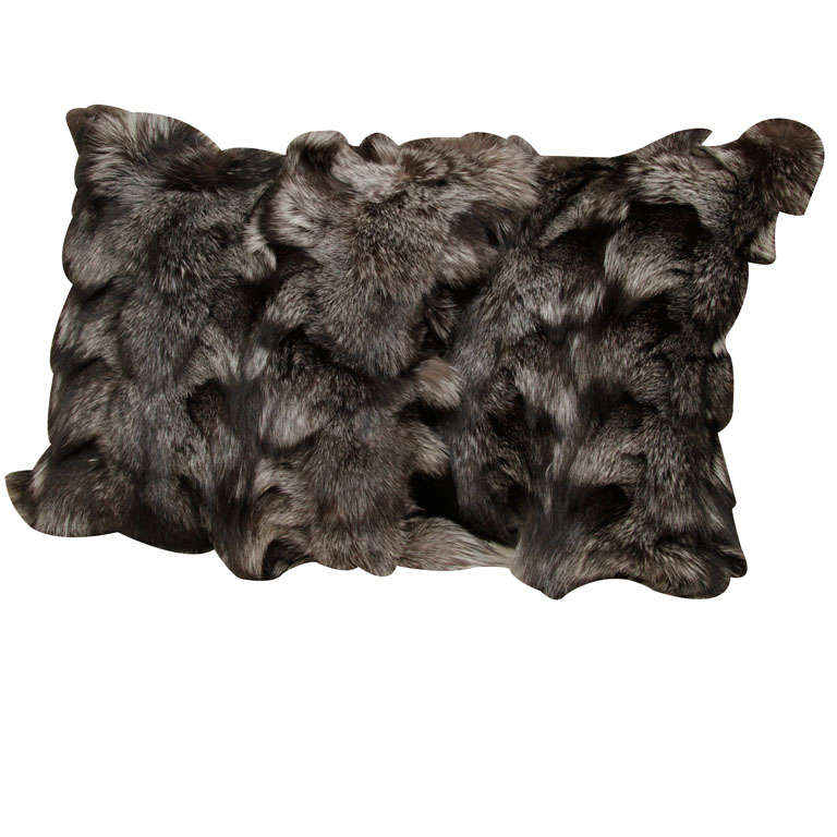 Pillows, Silver Fox Fur, Offered by Area ID