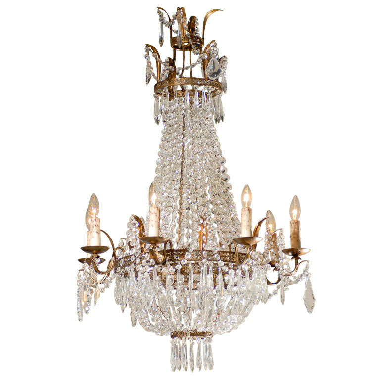 French crystal chandelier circa 1900 at 1stdibs - Circa lighting chandeliers ...